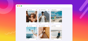 examples of instagram feed