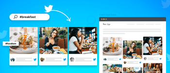 embed Twitter hashtag feed on website